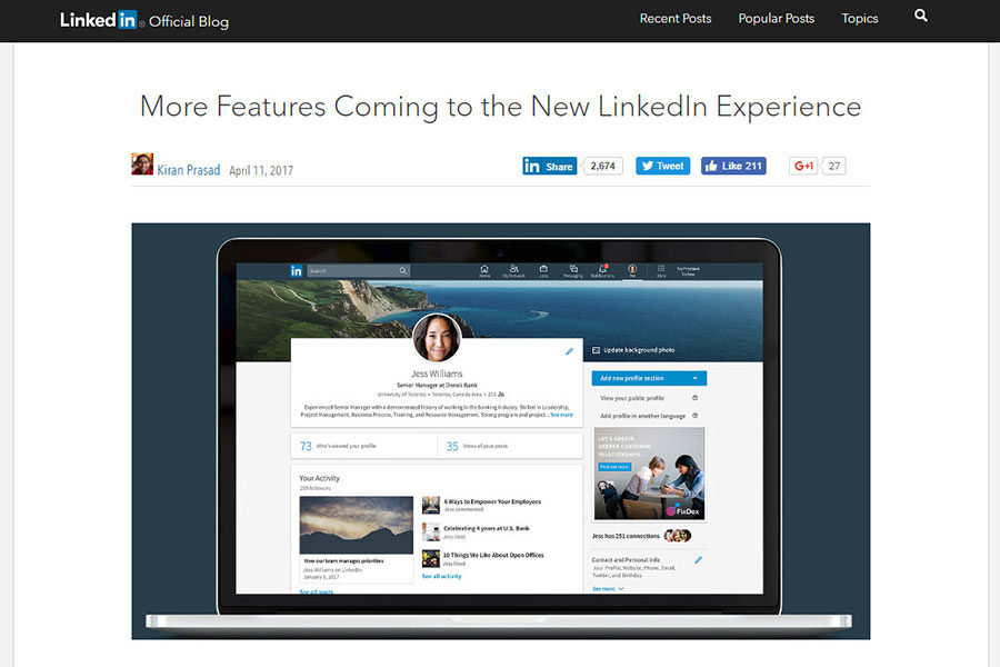 3 New LinkedIn Features for B2B Marketers in 2017