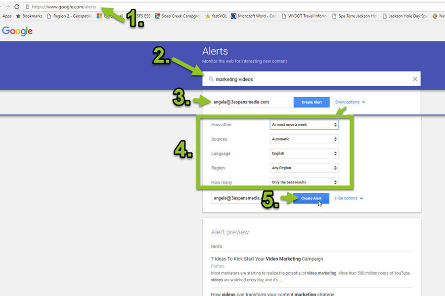 Set up Google Alerts in 5 Easy Steps